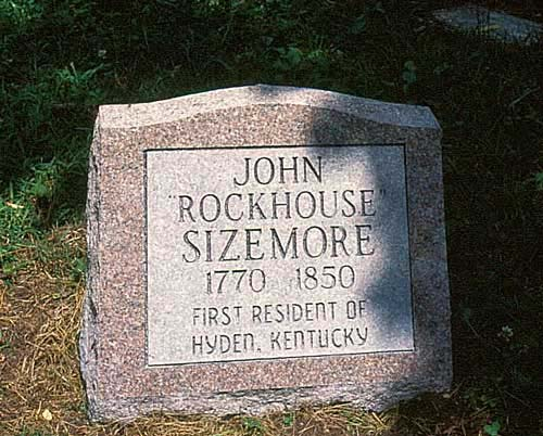New stone for John Rockhouse Sizemores